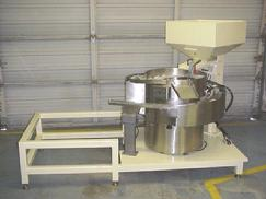 Vibratory feeder hopper table inline